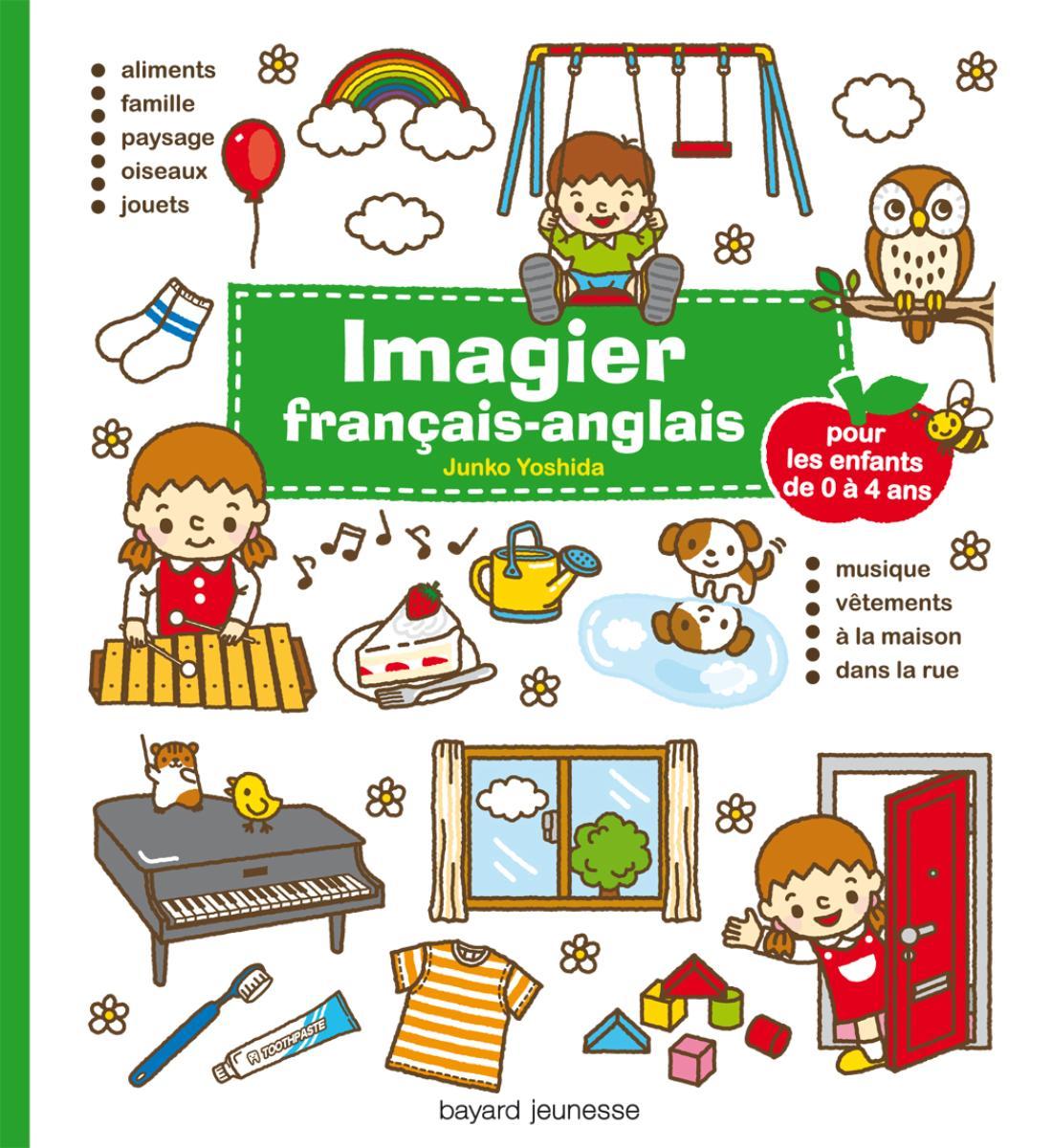 Couverture de «IMAGIER FRANCAIS-ANGLAIS – VERT – (2012)»