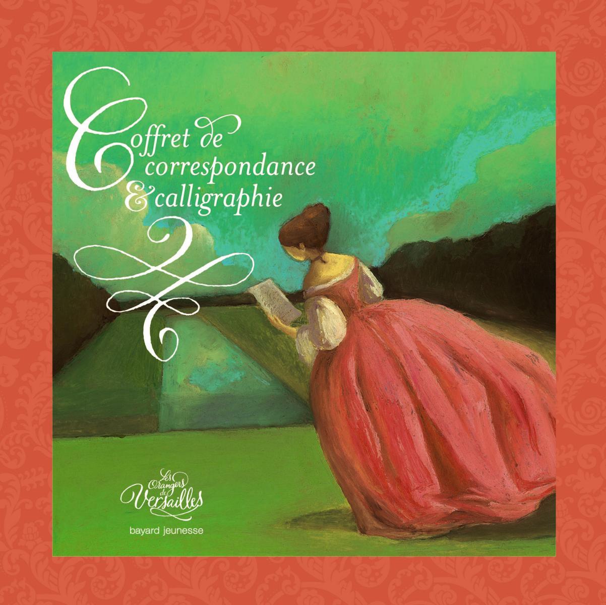 Couverture de «Coffret de correspondance et calligraphie – Les orangers de Versailles»