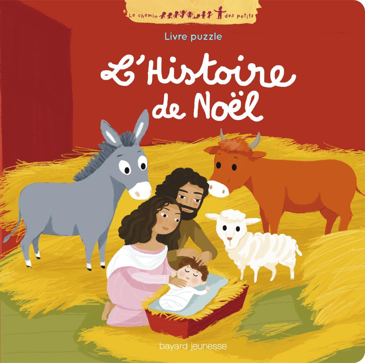 Couverture de «L'HISTOIRE DE NOËL EN PUZZLE»