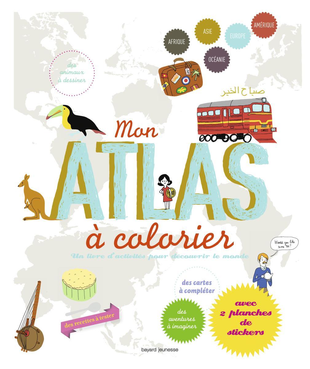 Couverture de «MON ATLAS À COLORIER»