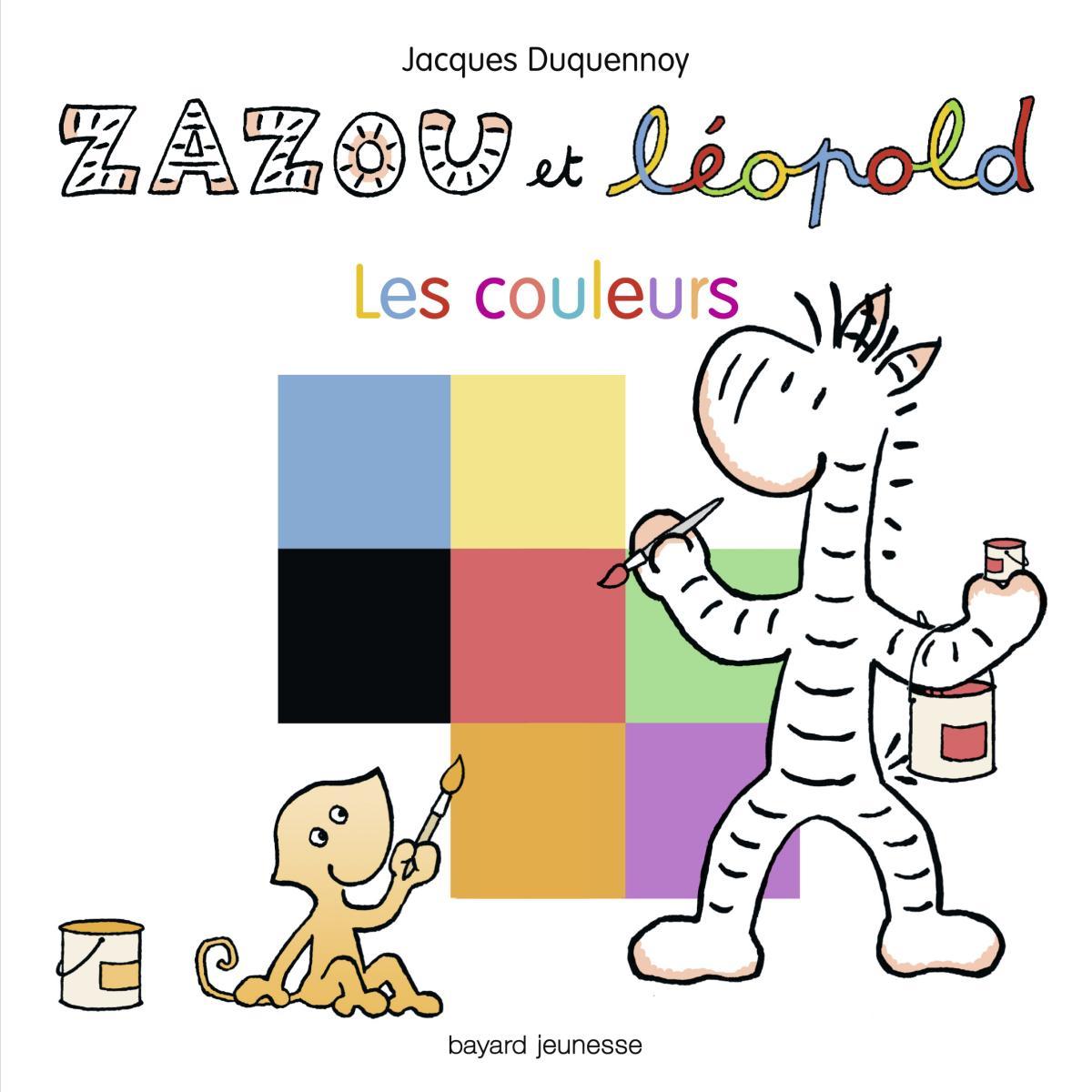 Couverture de «Zazou et Léopold Les couleurs»