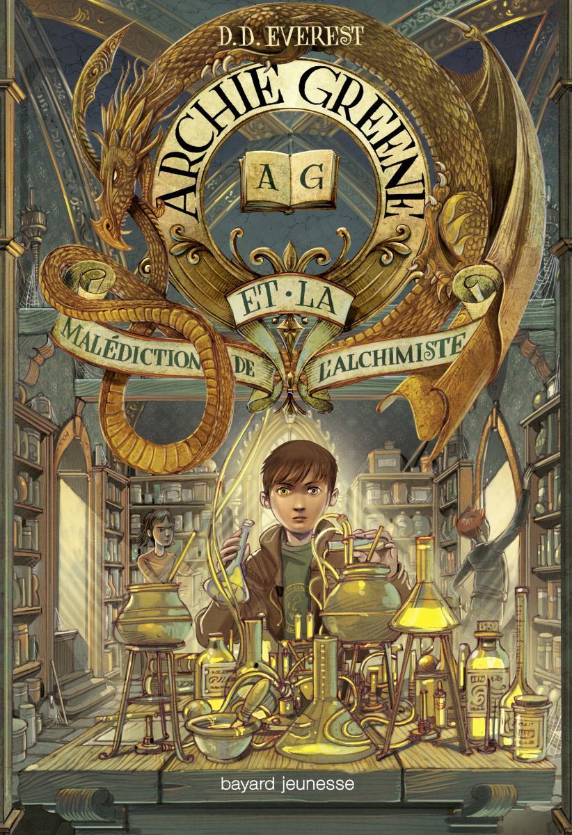Couverture de «Archie Greene et la malédiction de l'alchimiste»