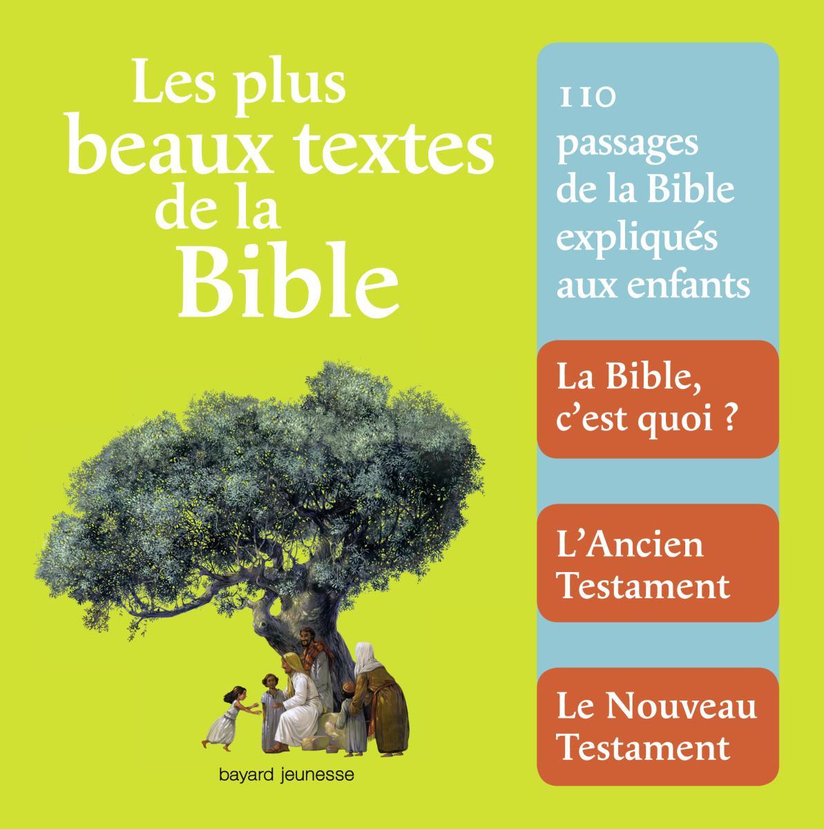 Couverture de «Les plus beaux textes de la bible»
